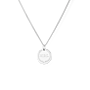 Mini Initial Coin Necklace