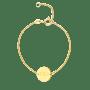 Mini Initial Coin Bracelet