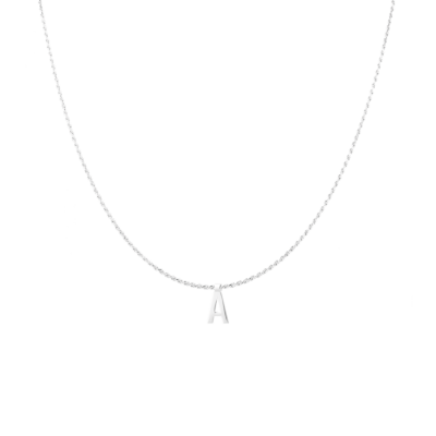 Ruby Rope Letter Necklace