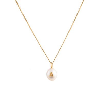 Delicate Pearl Letter Necklace