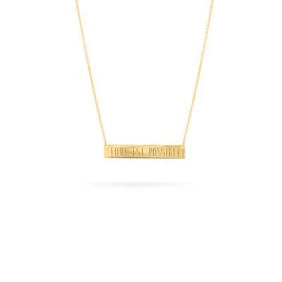 bar necklace or