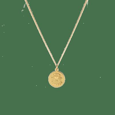 Zoe Zodiac Coin Necklace