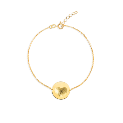 fingerprint coin bracelet gold