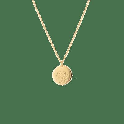 birthflower necklace goud roos