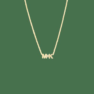 Letters + Diamond Necklace