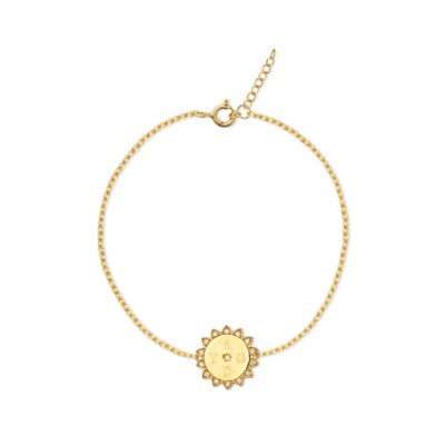 Sammy Sunflower Initial Bracelet