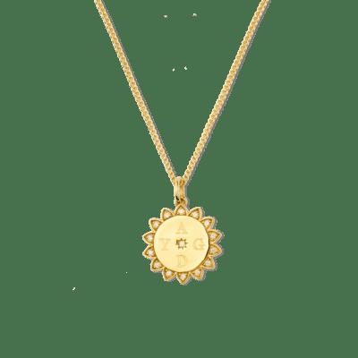 Sammy Sunflower Initial Necklace