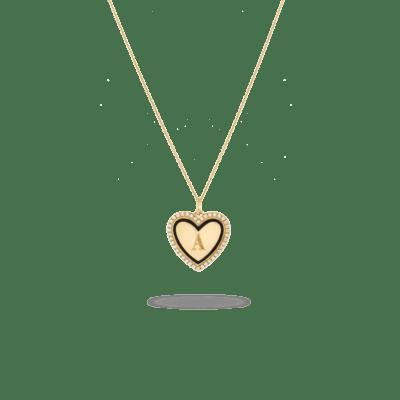 Sylvie Heart Necklace Goud