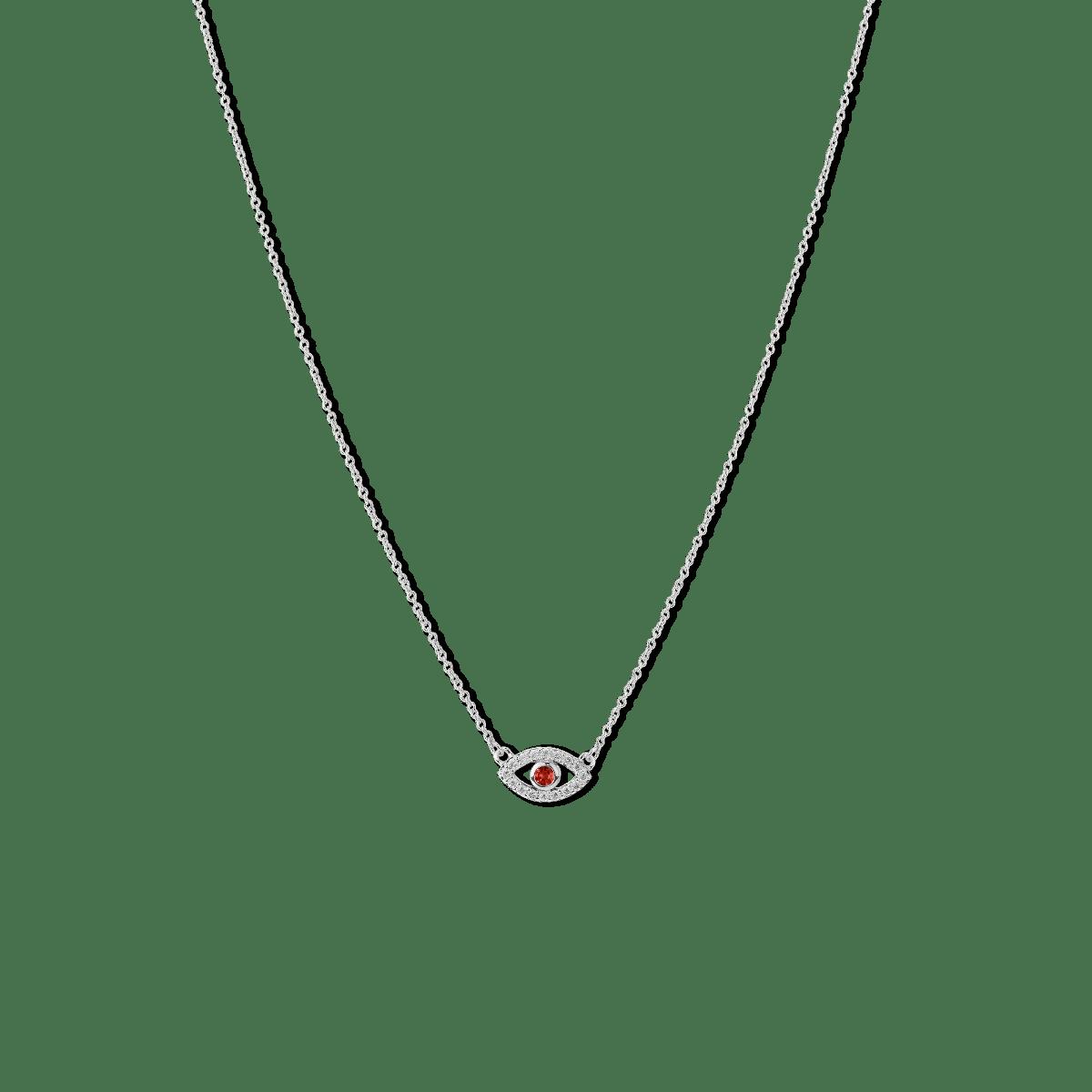 Evil Eye Birthstone Necklace