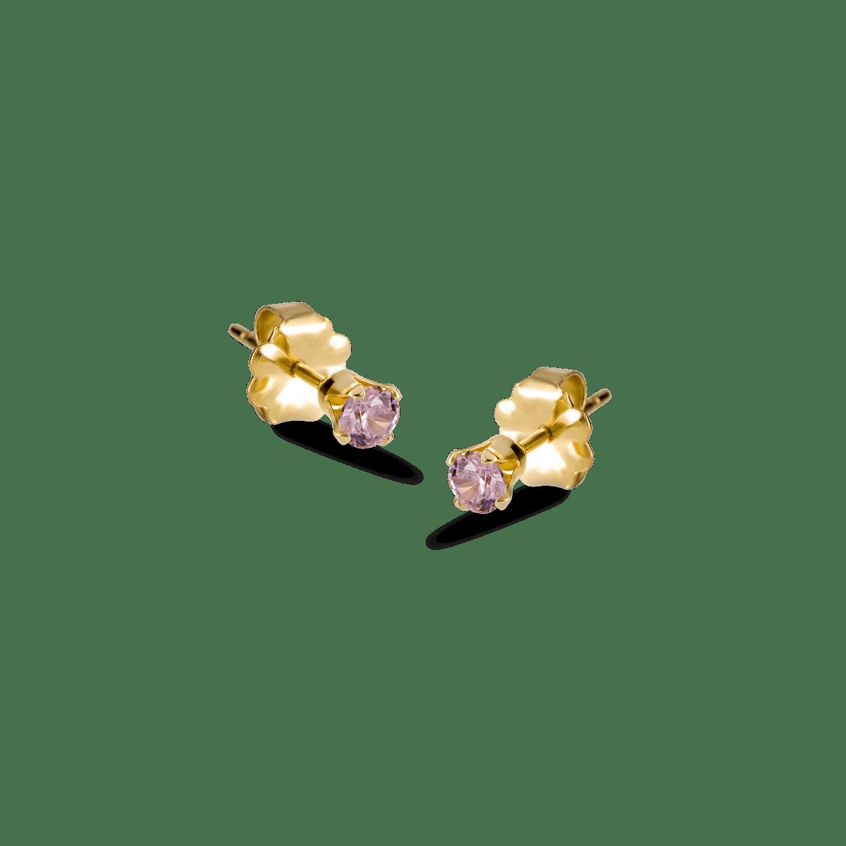 bella birthstone stud gold october