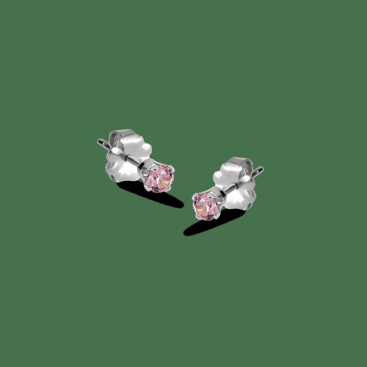 bella birthstone stud silver october