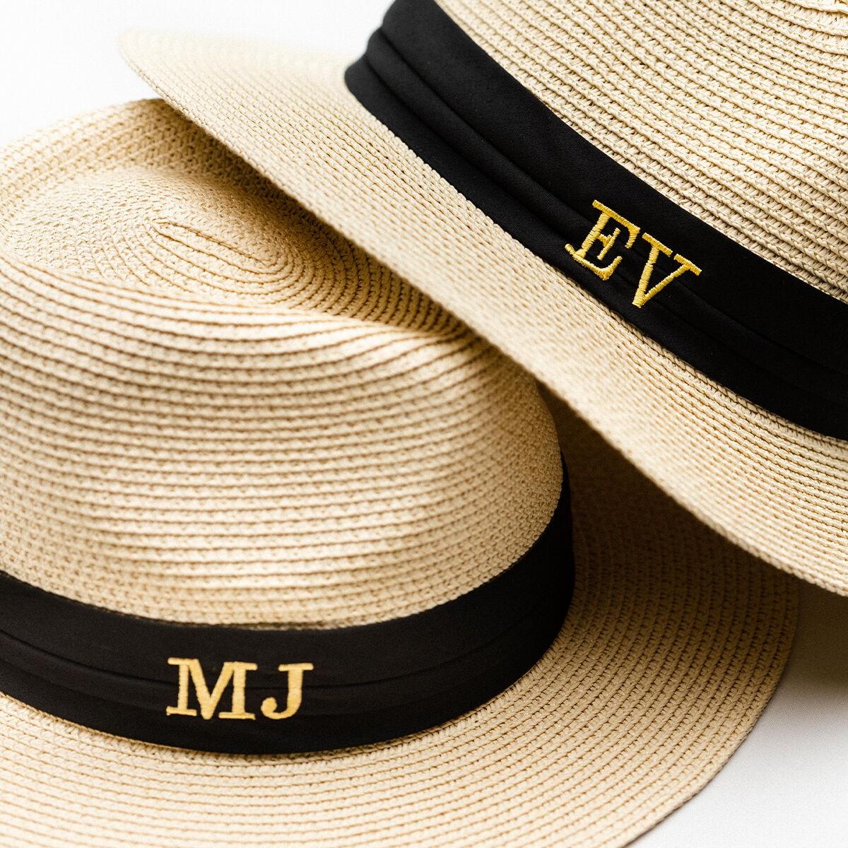 Pre-Order Brigitte Monogram Straw Hat