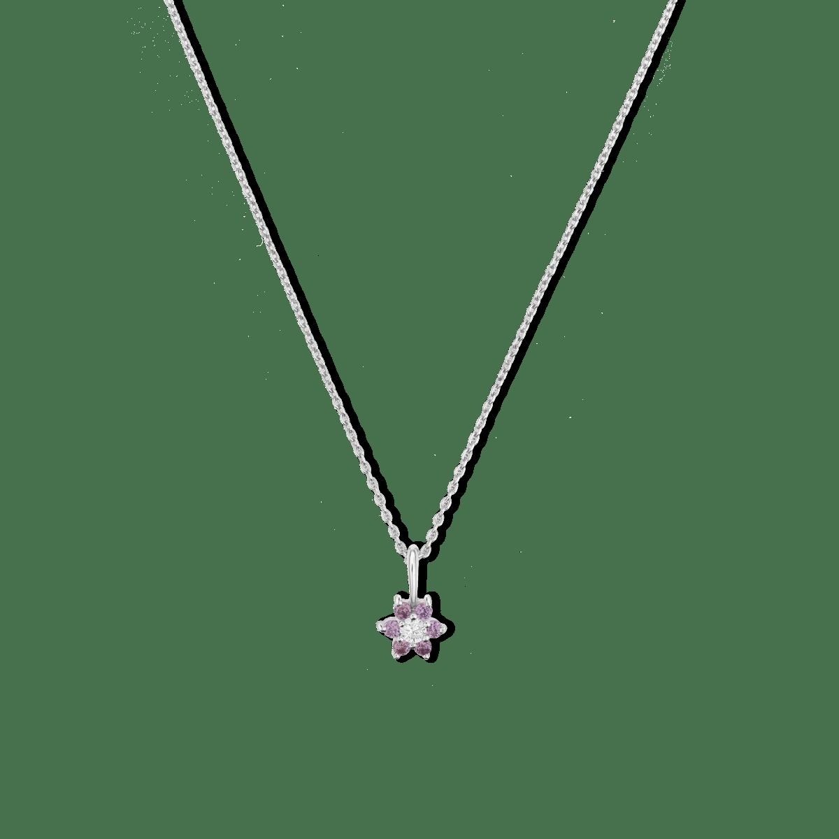 Flora Flower Birthstone Necklace