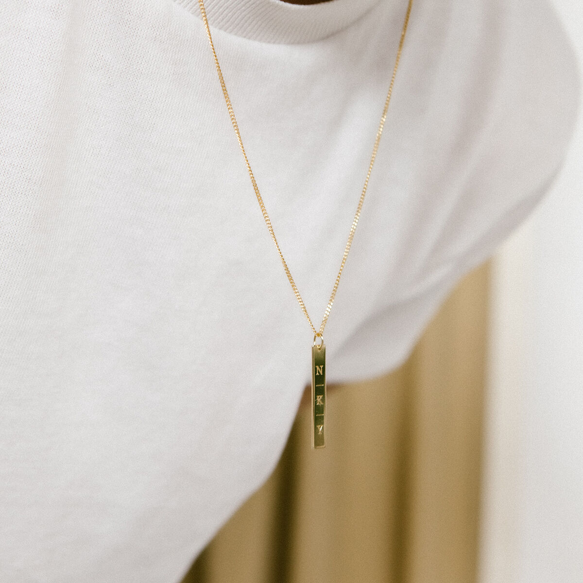 Pre-Order Benny Bar Initial Necklace