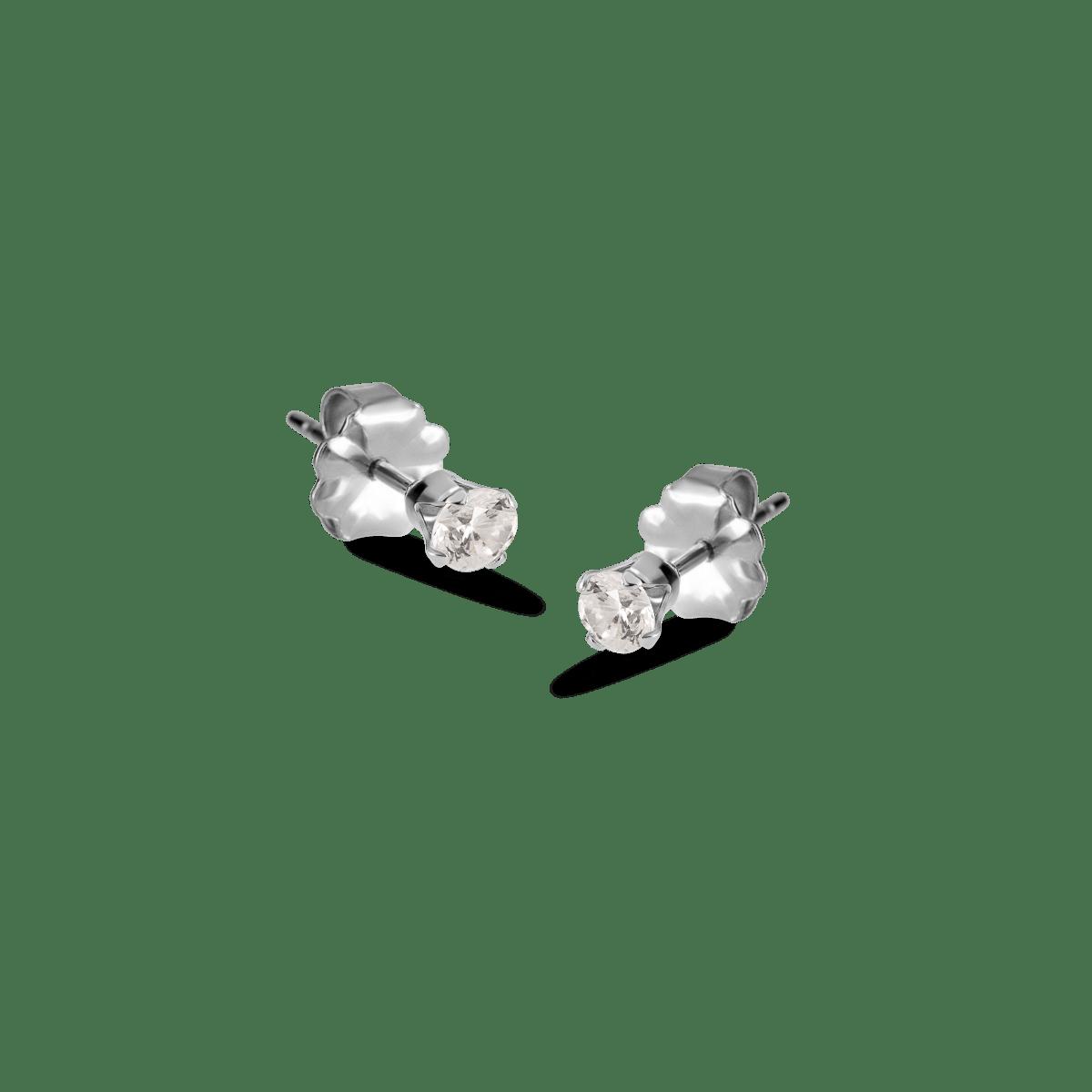 bella birthstone stud silver april