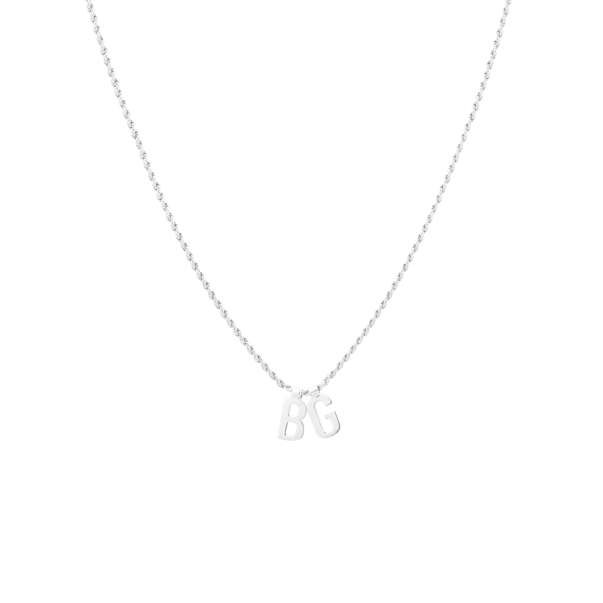 Ruby Rope Letter Necklace zilver BG