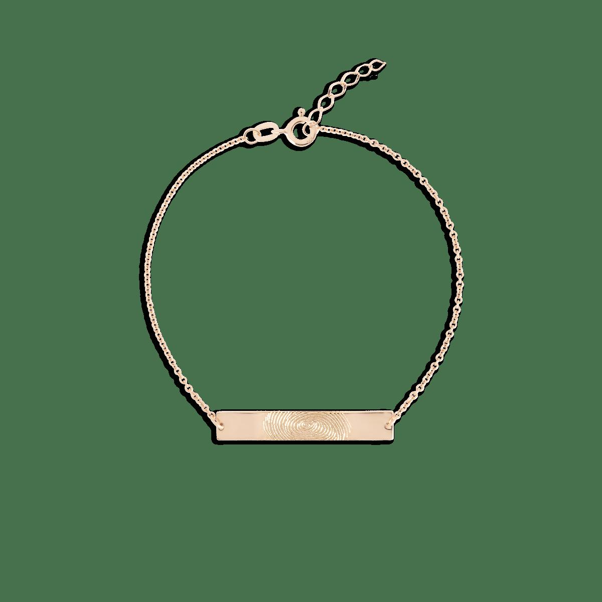 Fingerprint Bar Bracelet