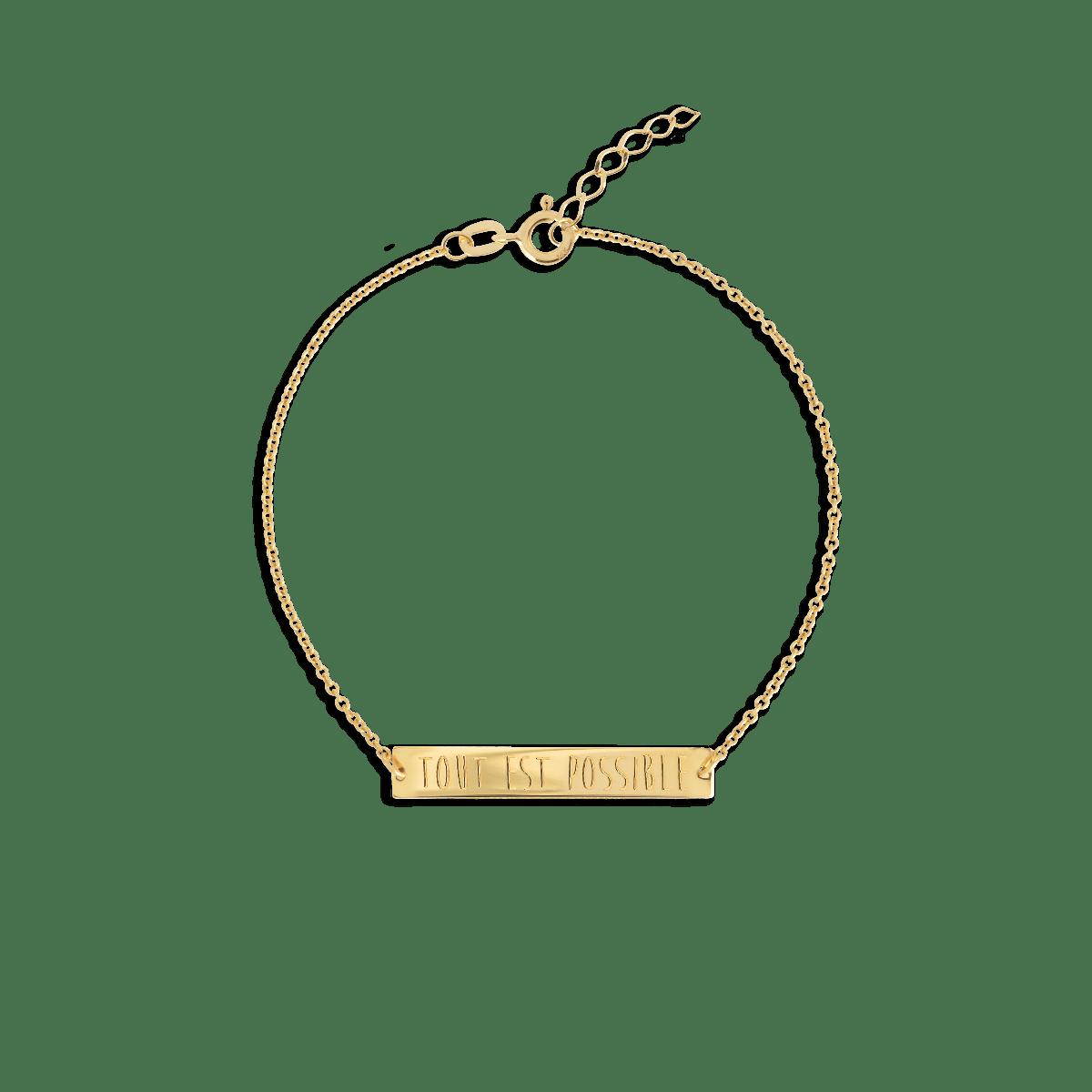bar bracelet gold