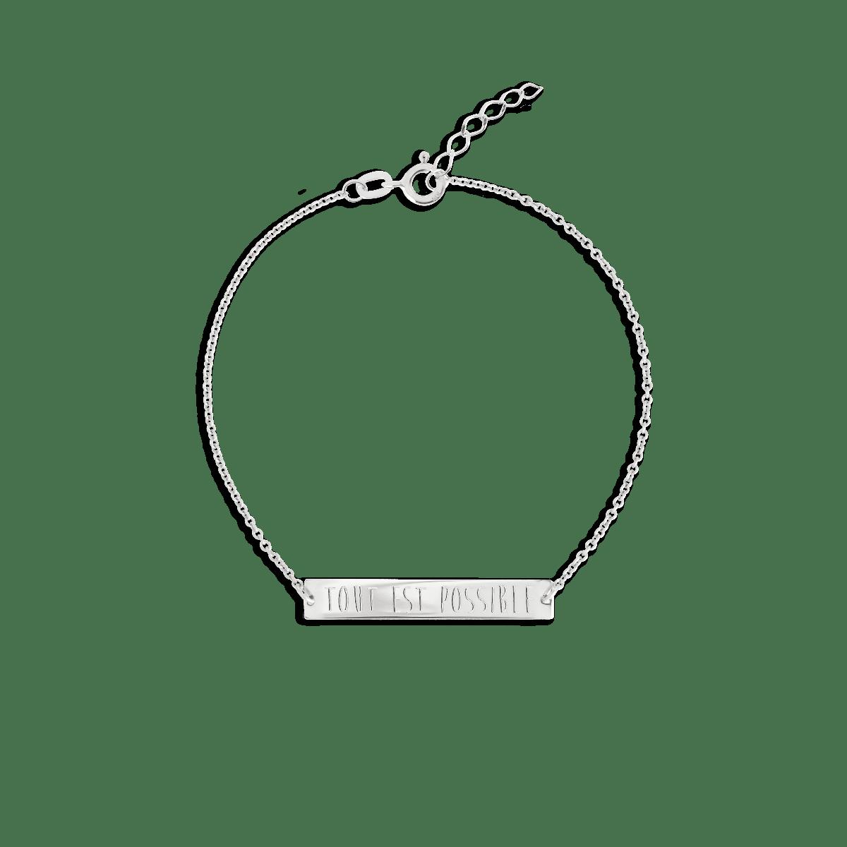 bar bracelet silber