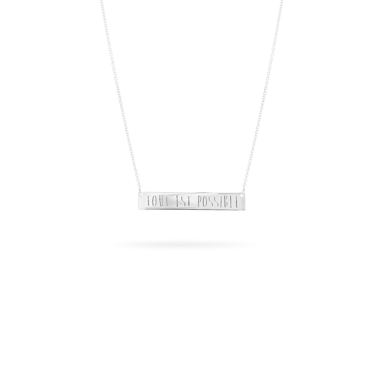 bar necklace silver