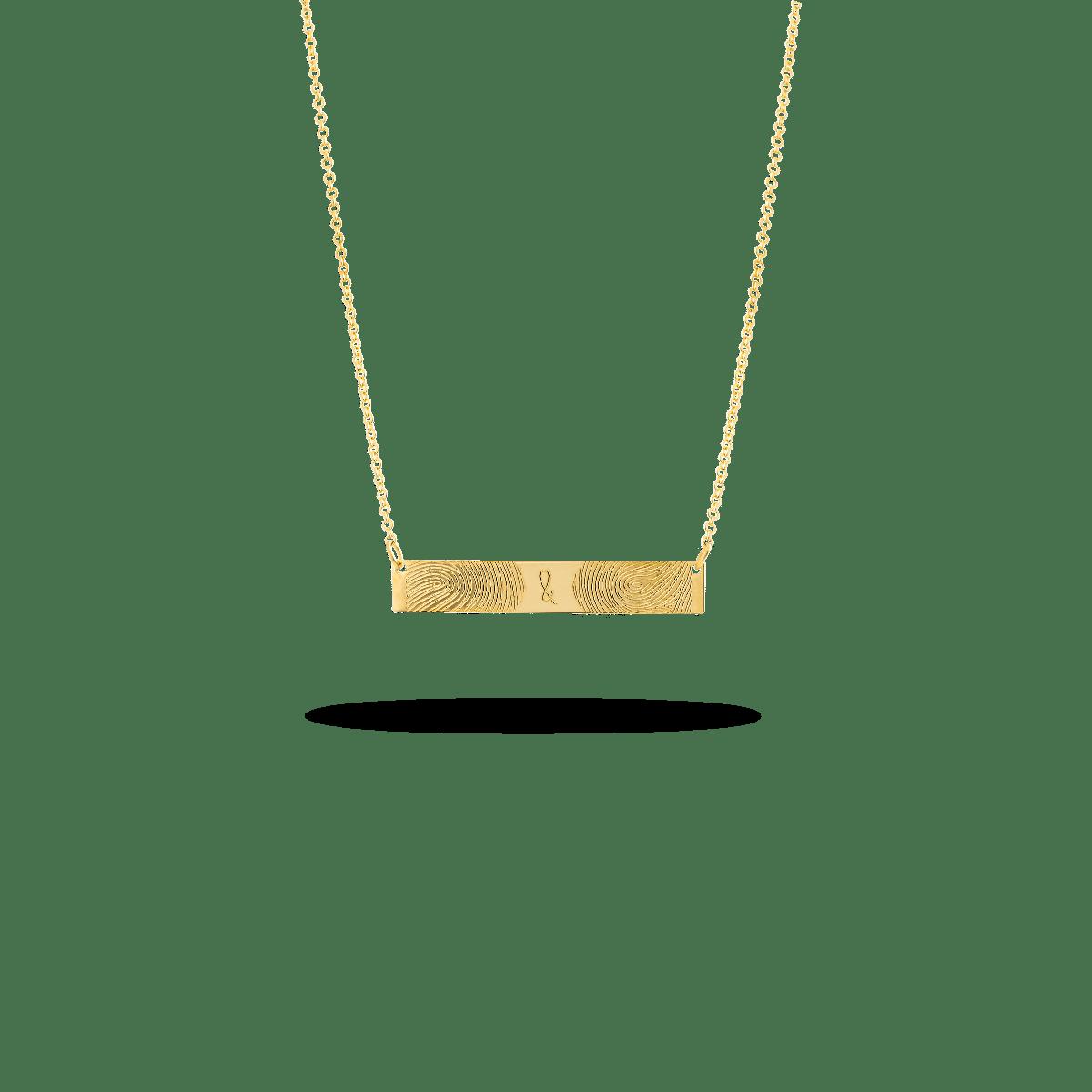 Fingerprint Bar Necklace