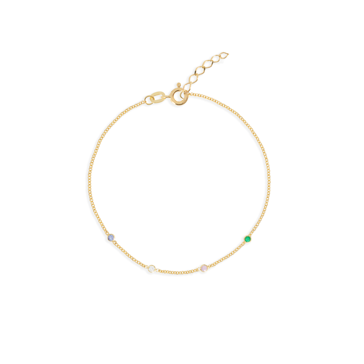 birthstone bracelet gold