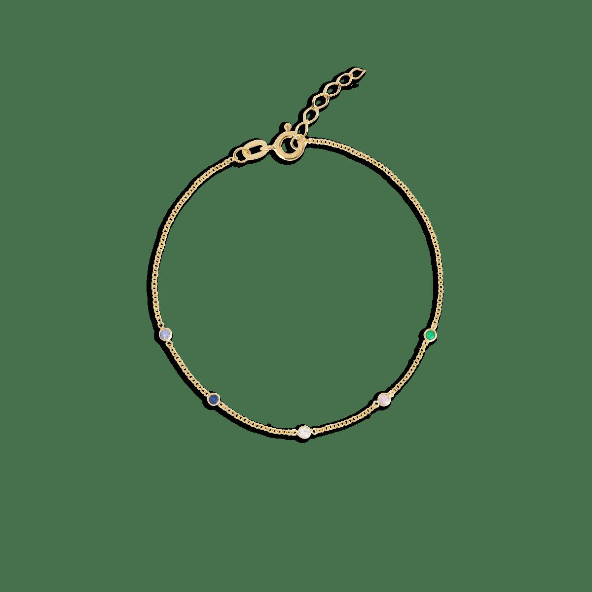 birthstone bracelet goud