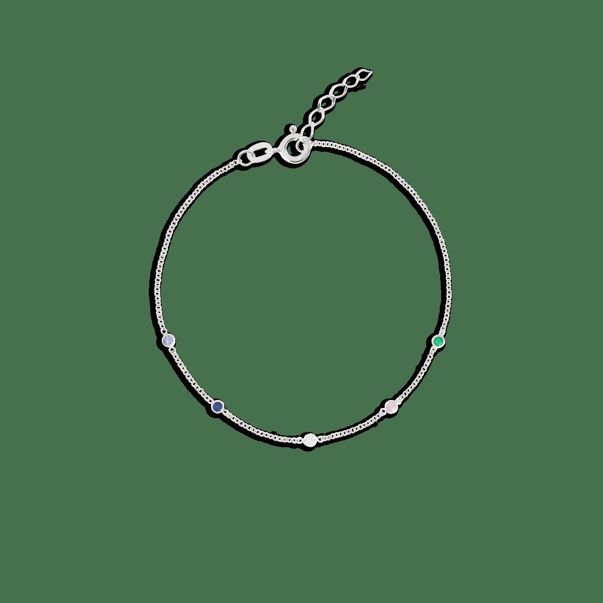 birthstone bracelet white gold
