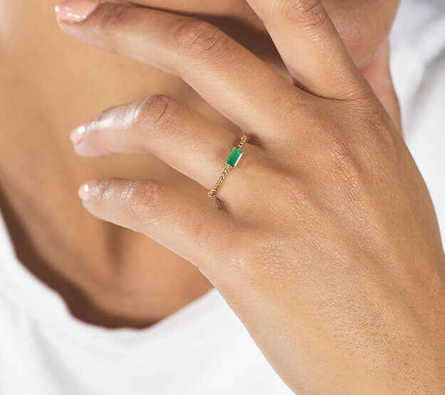Bubble Birthstone Ring 9K gold may model