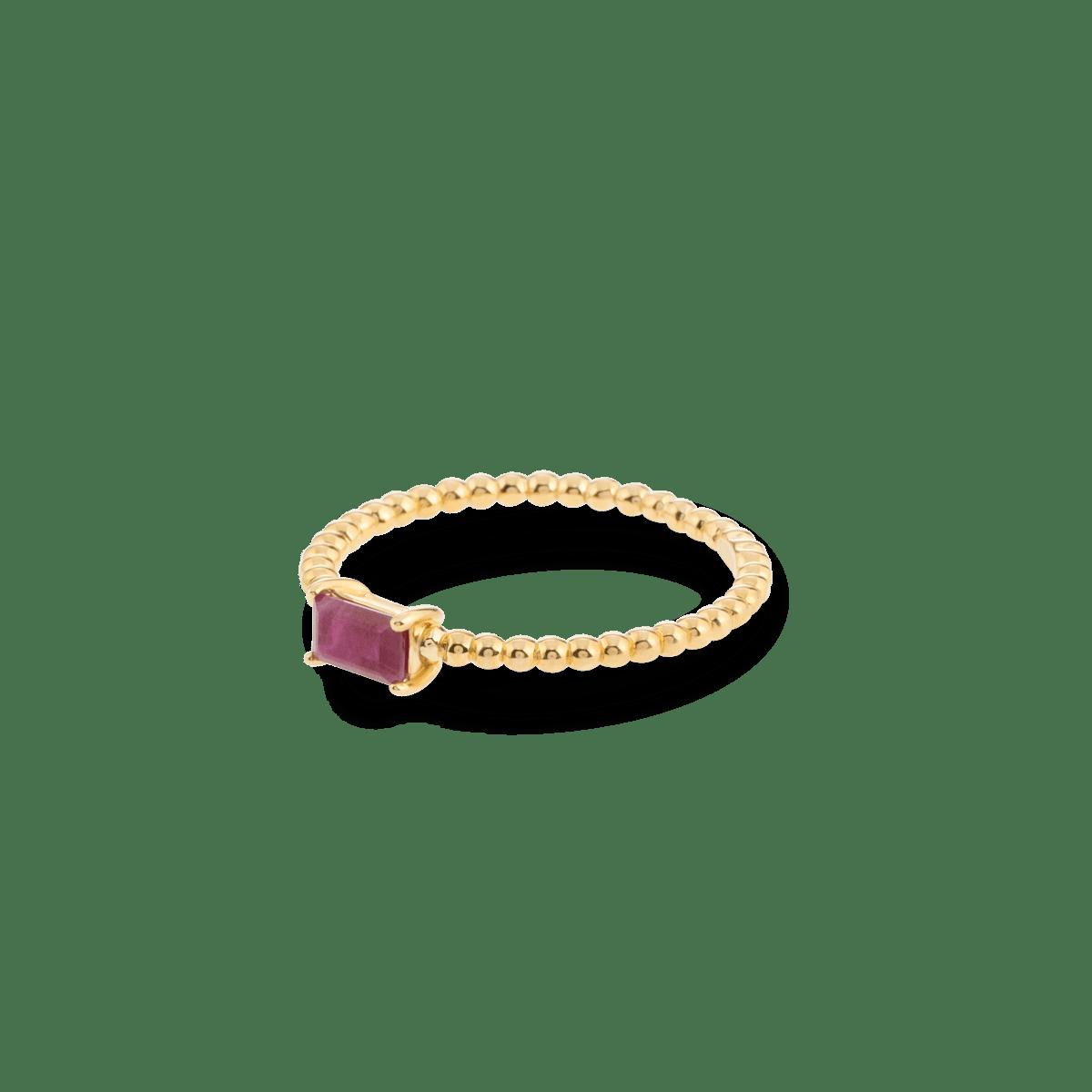Bubble Birthstone Ring 9K gold juli