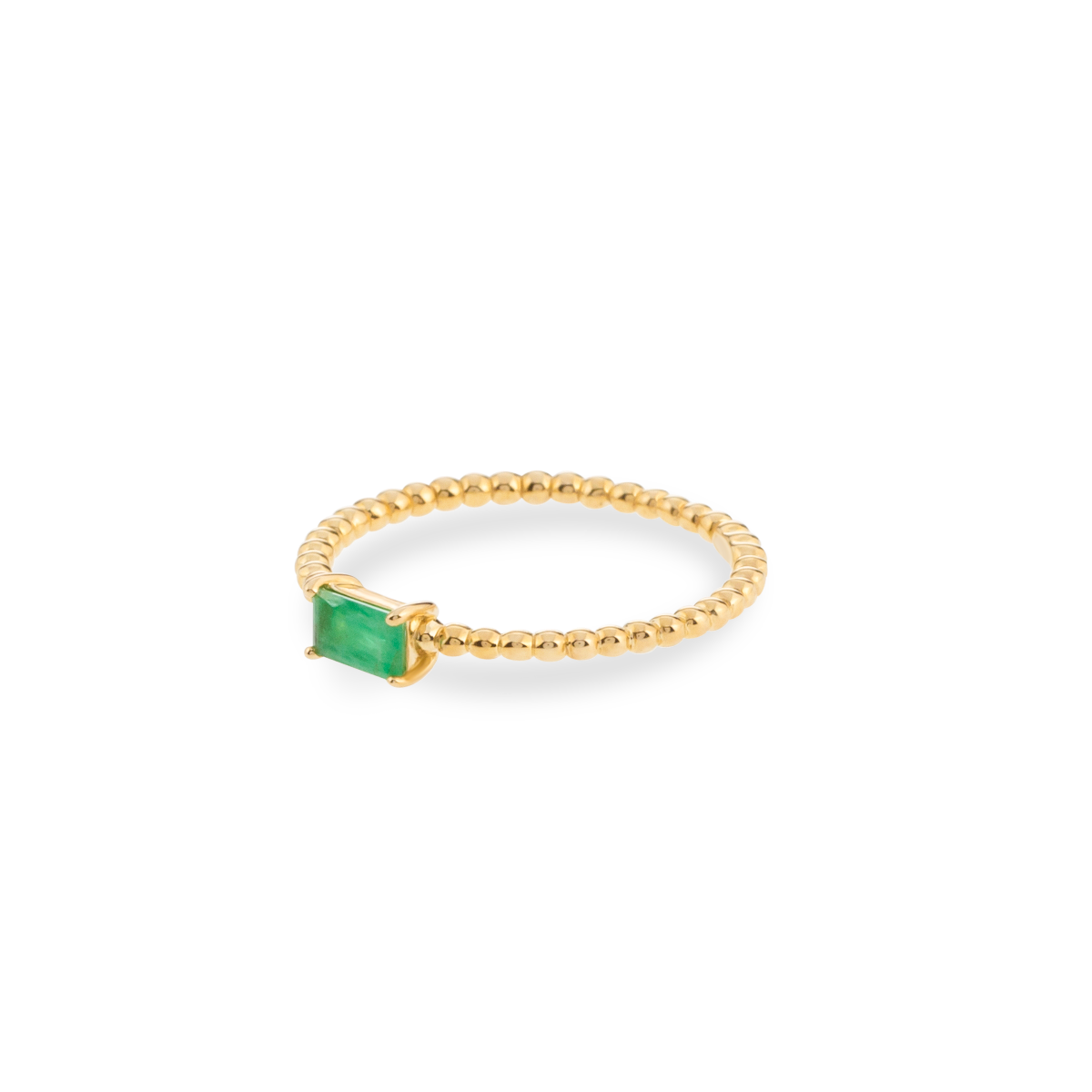 Bubble Birthstone Ring 9K gold may
