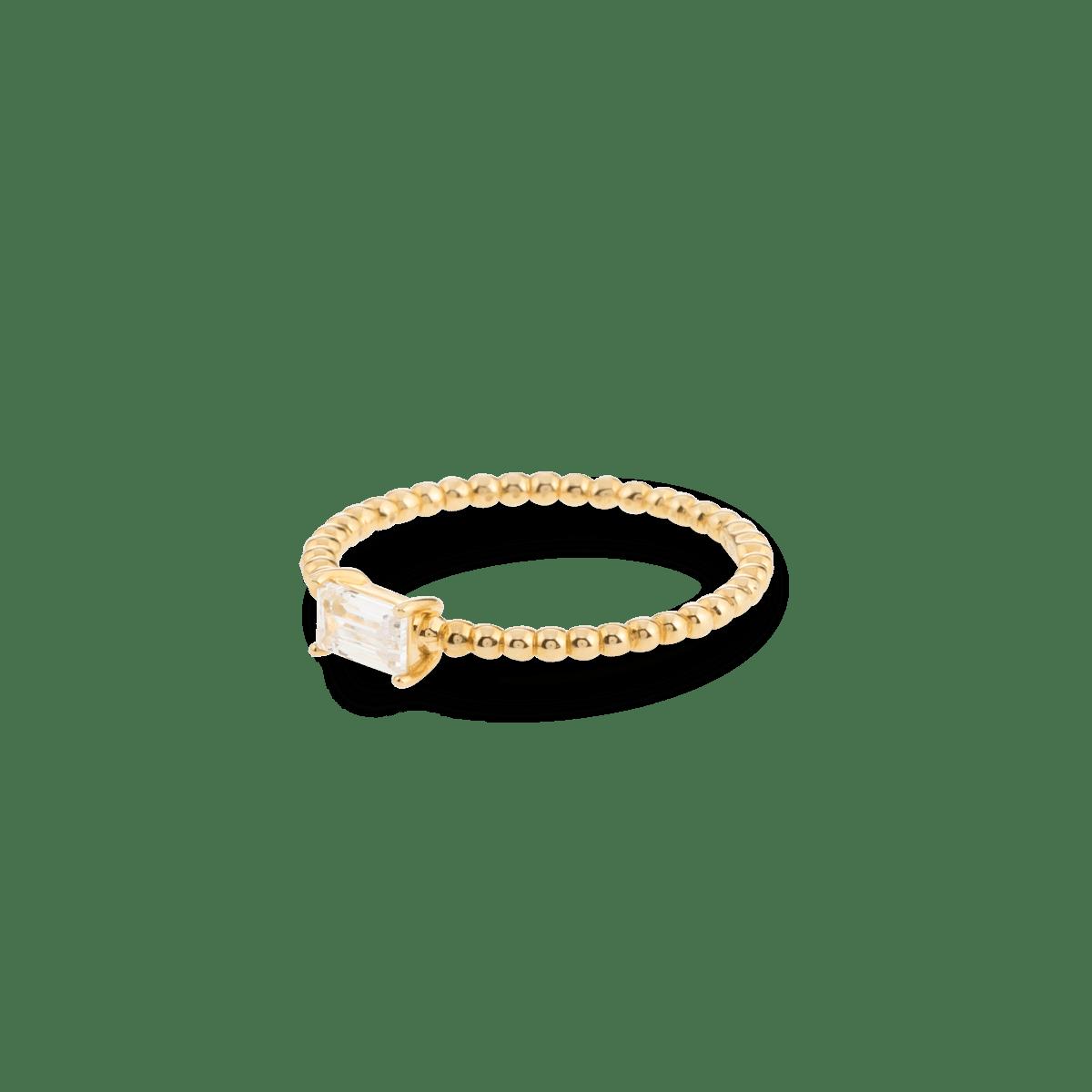 Bubble Birthstone Ring 9K gold april