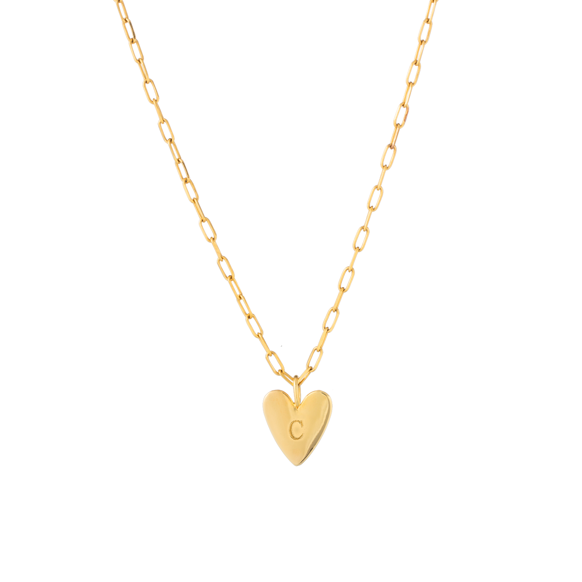 Holly Heart Initial Necklace