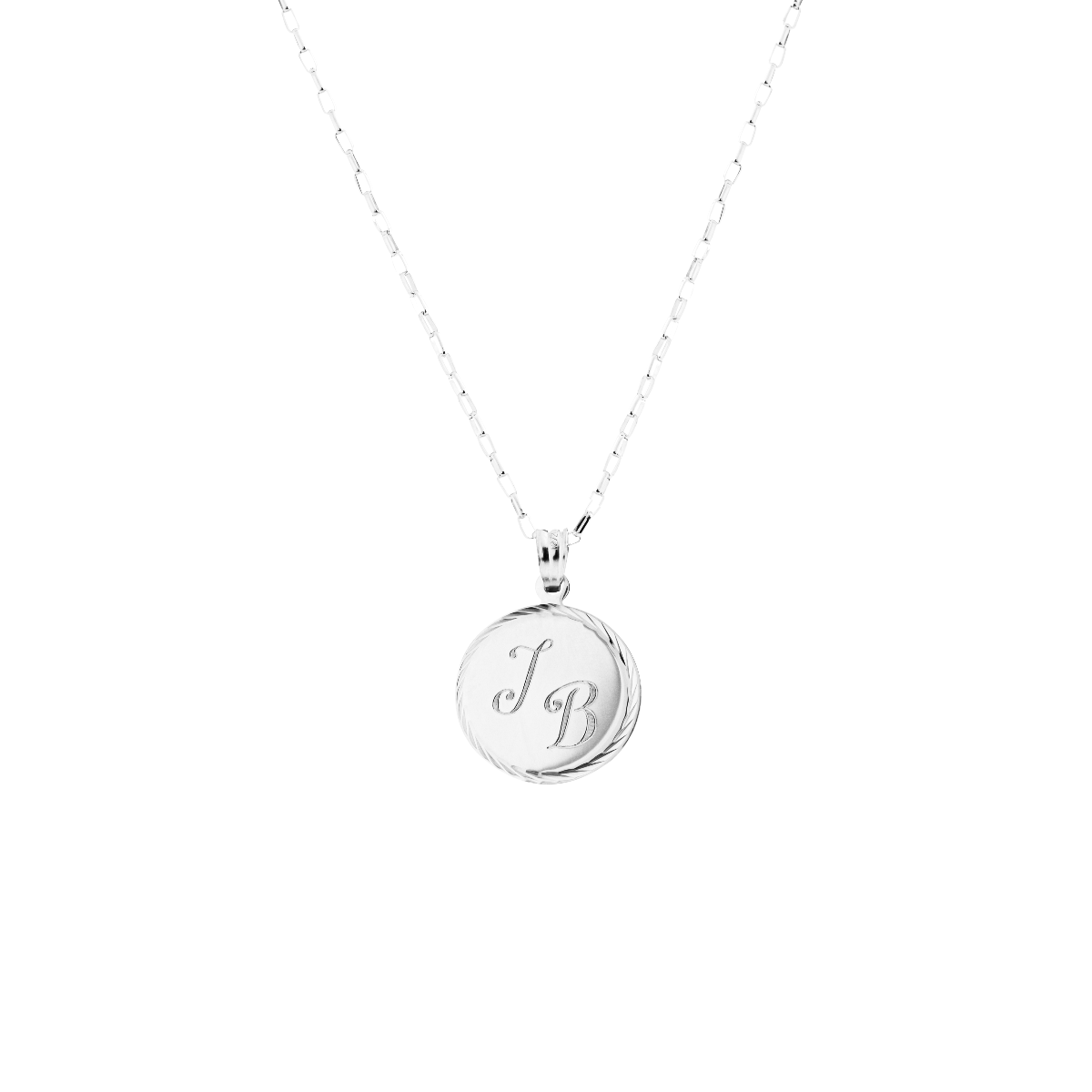 initial necklace by chantal janzen silver