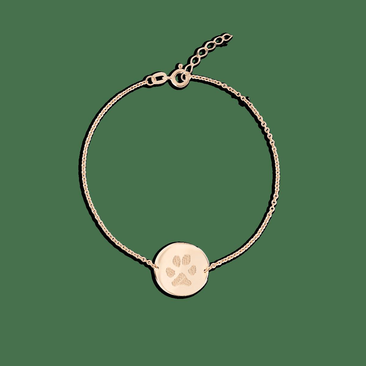 Paw Print Coin Bracelet