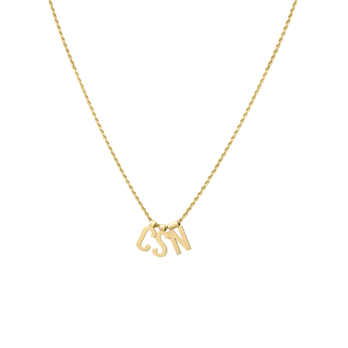 Ruby Rope Letter Necklace goud CSN