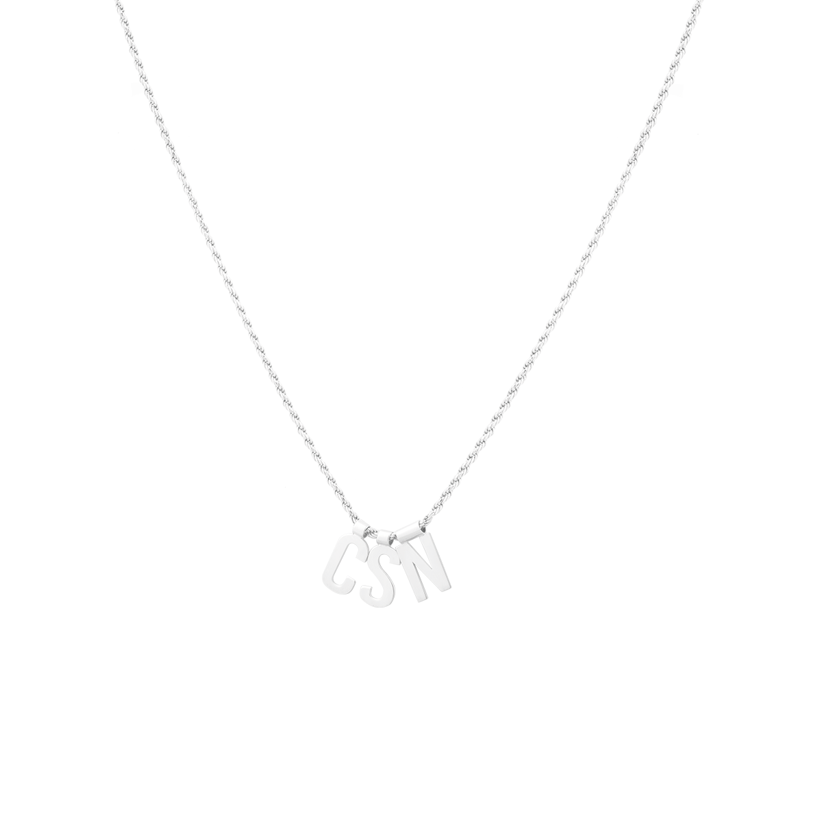 Ruby Rope Letter Necklace zilver CSN