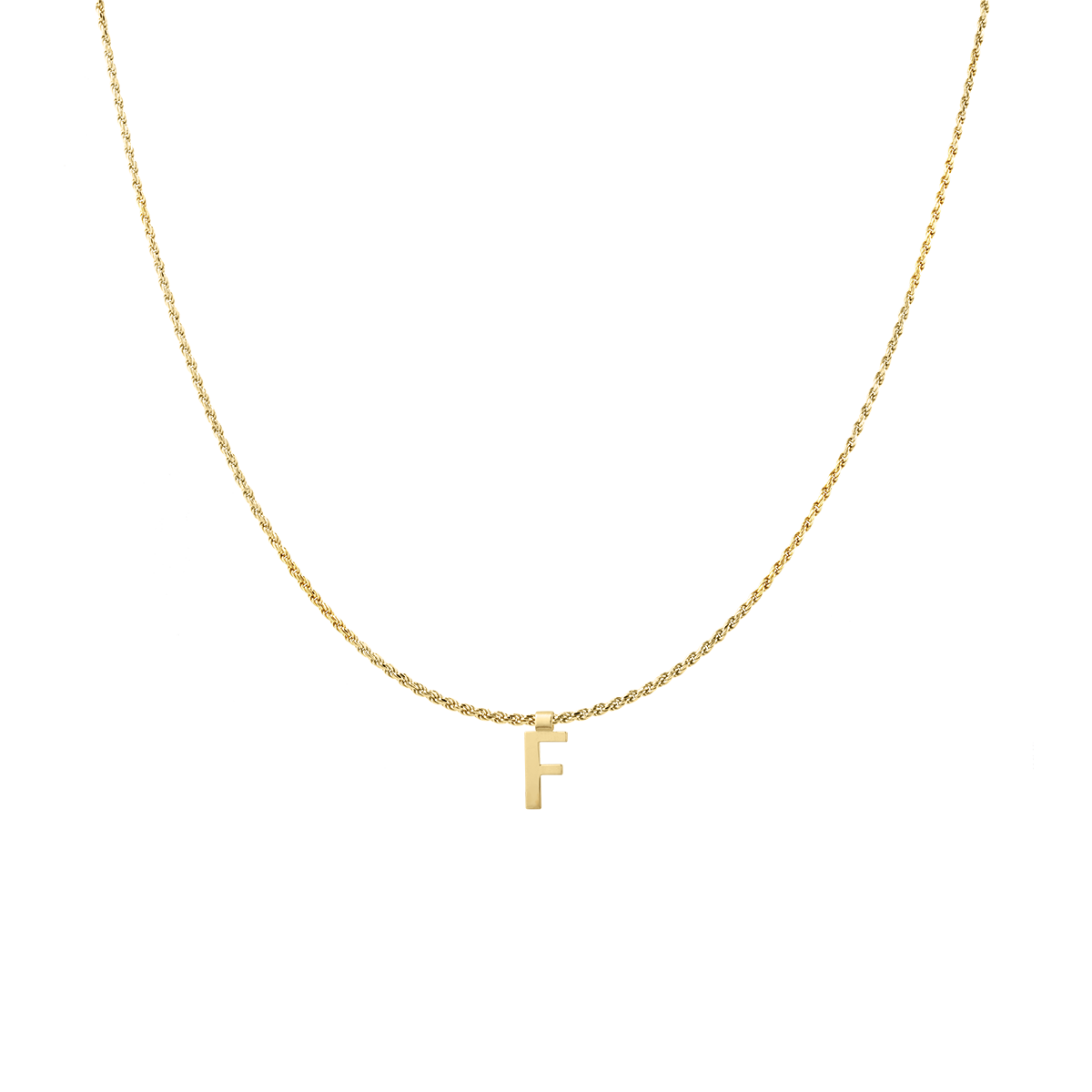 Ruby Rope Letter Necklace goud F