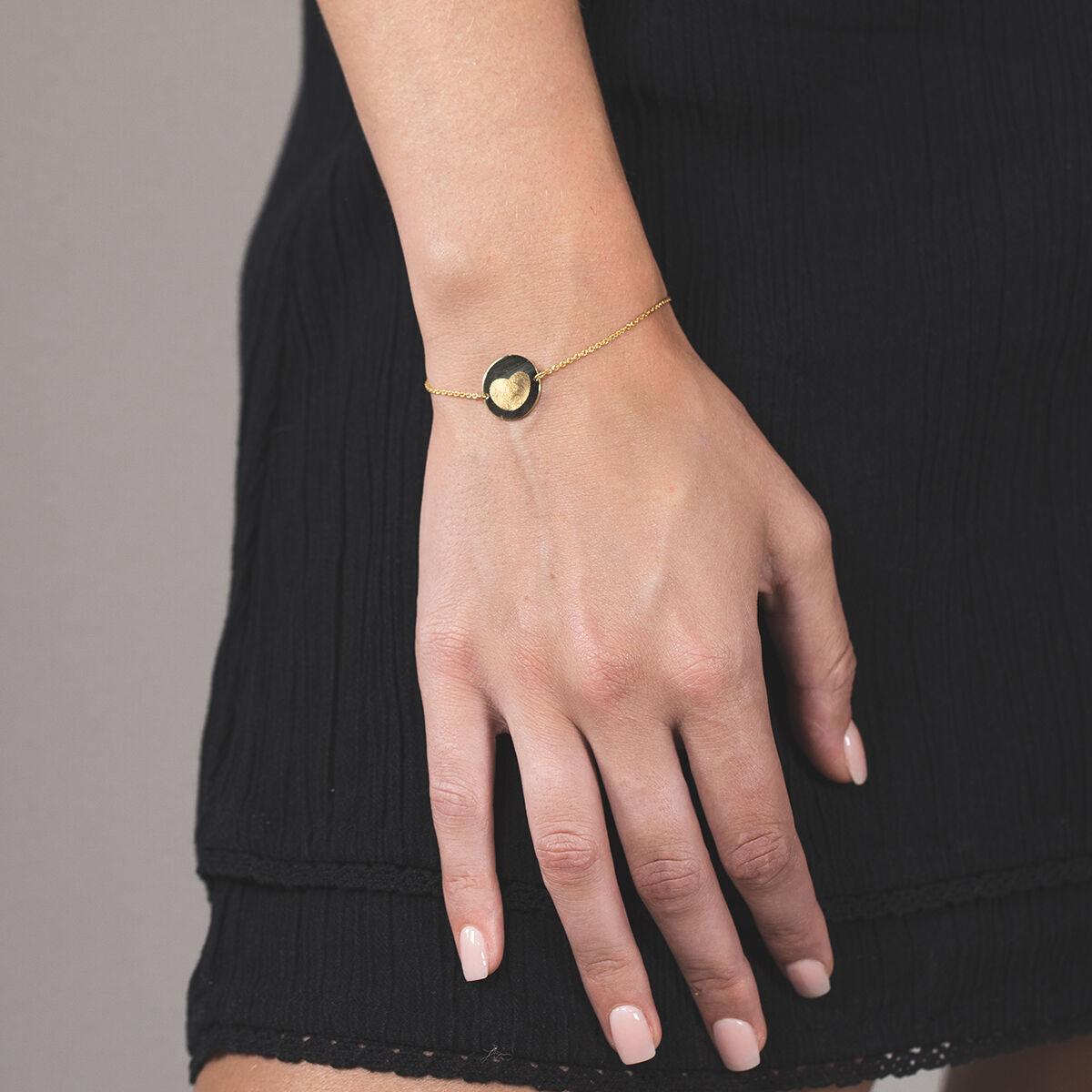 fingerprint coin bracelet or