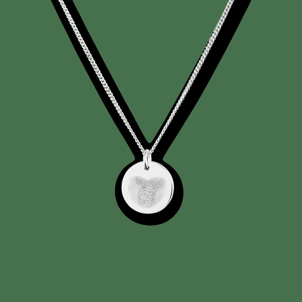 Mini Fingerprint Coin Necklace