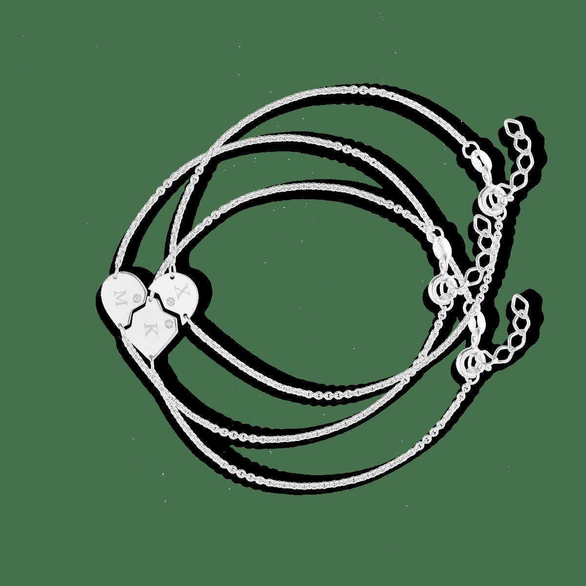 Faith Friendship Initial Bracelet