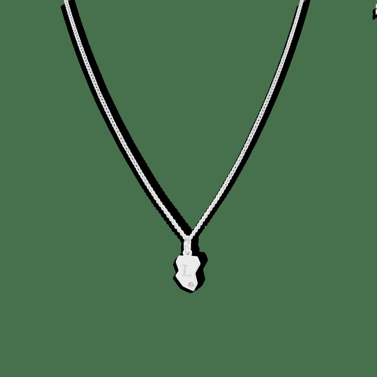 Faith Friendship Initial Necklace