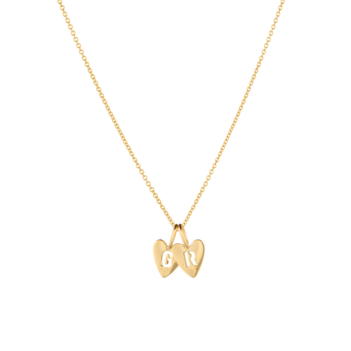 Hannah Heart Letter Necklace