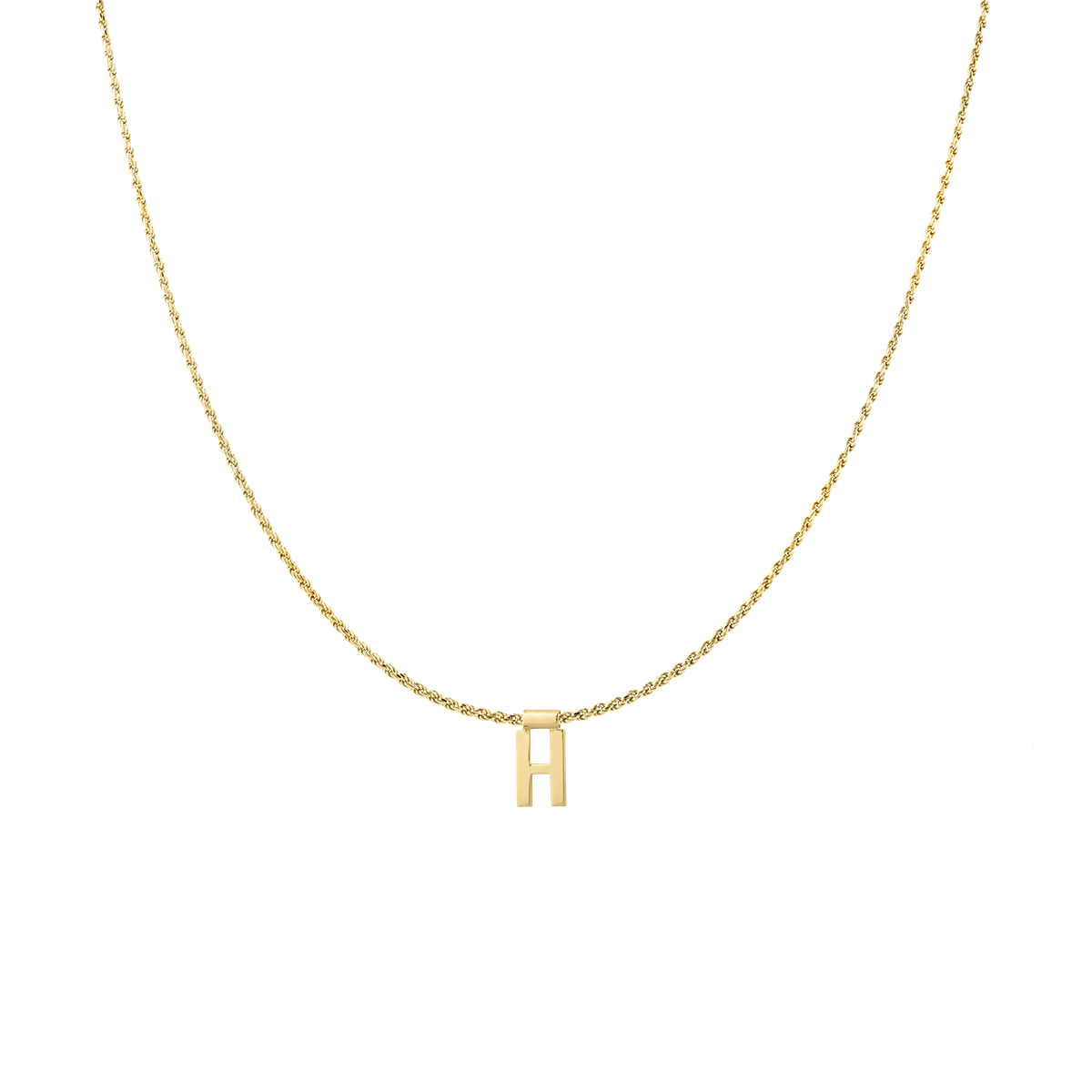 Ruby Rope Letter Necklace goud H