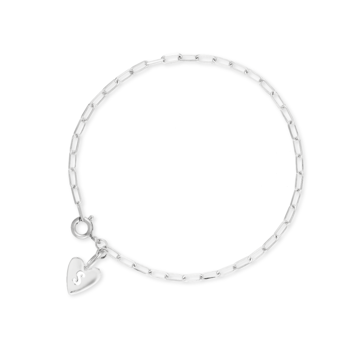 Hannah Heart Letter Bracelet