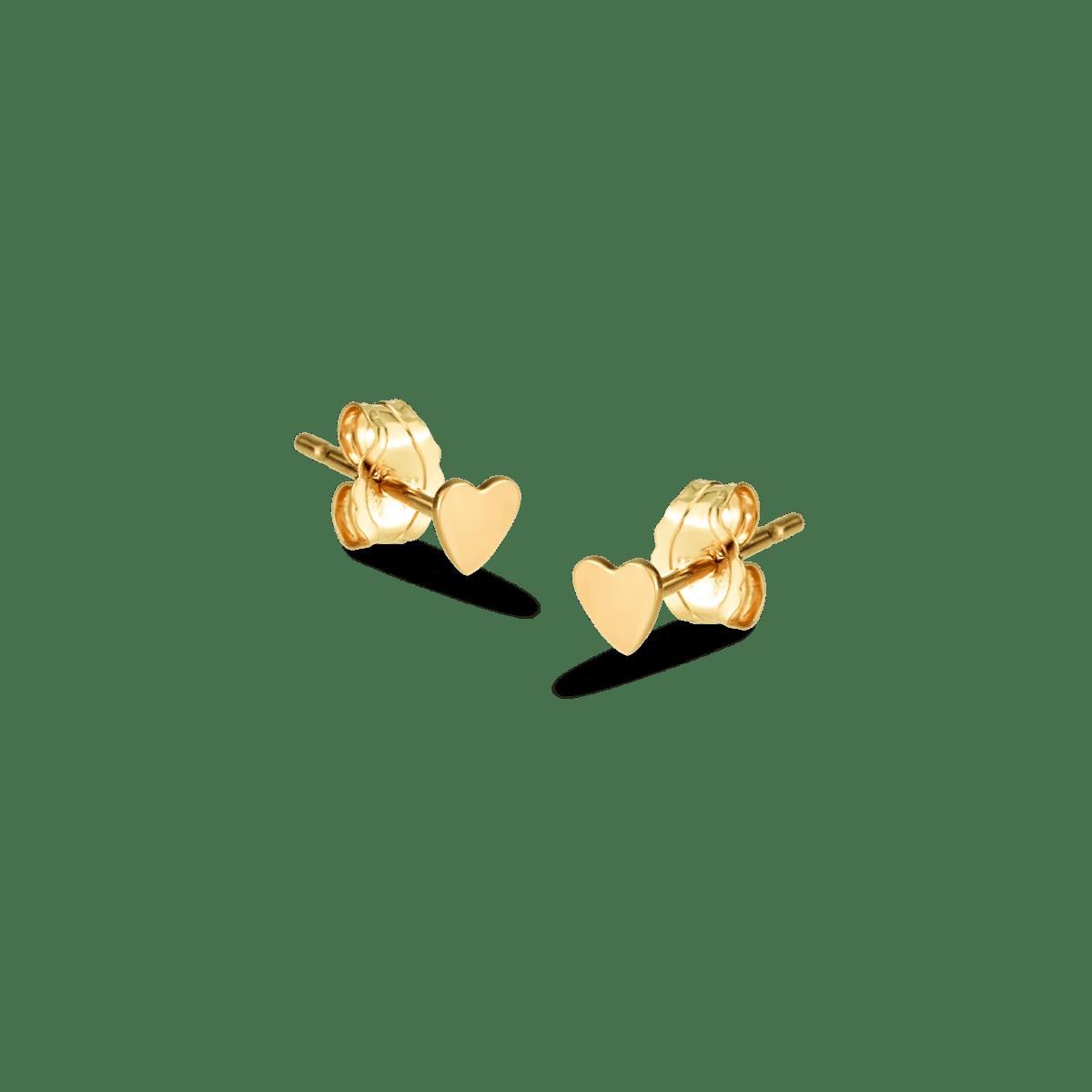 Hailee heart studs goud