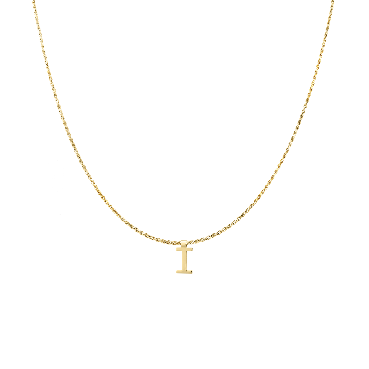 Ruby Rope Letter Necklace gold I