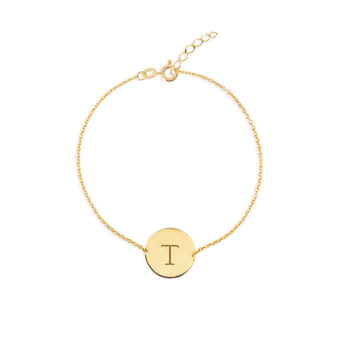 Initial Coin Bracelet