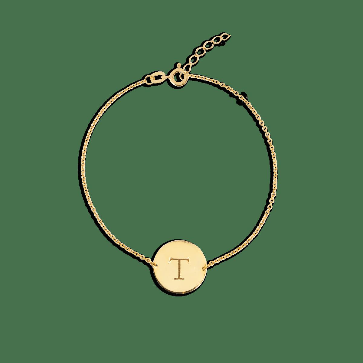 Initial Coin Bracelet