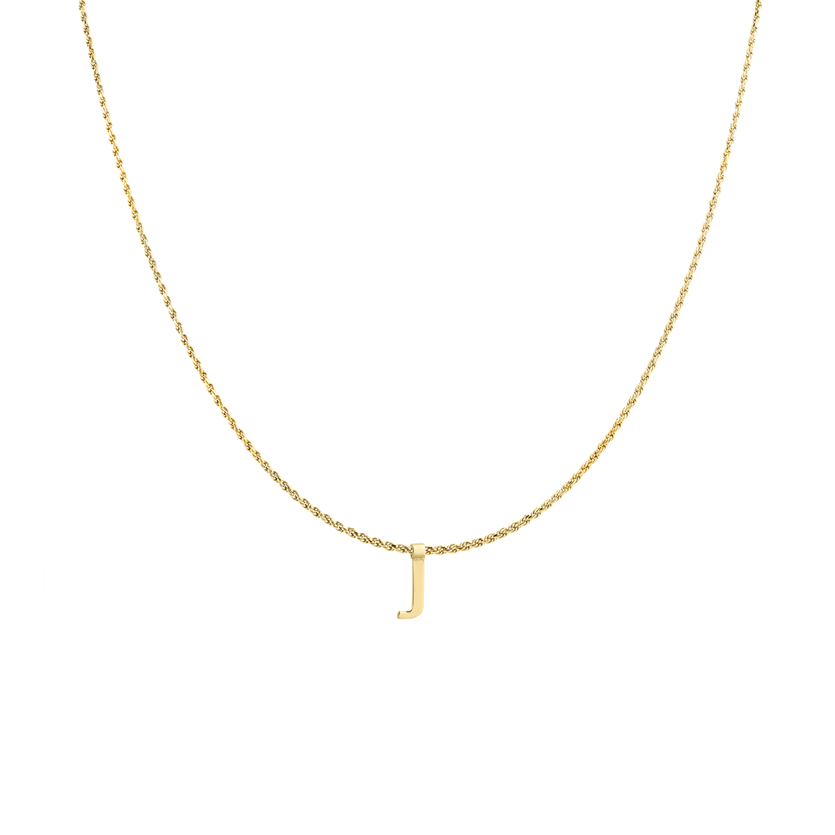 Ruby Rope Letter Necklace gold J